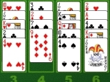 Play Crystal golf solitaire now