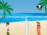 Play Beach ball game - Naruto And Ben 10 now