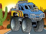 Play Crazy monster truck jigsaw now