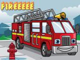 Play Fire truck jigsaw now